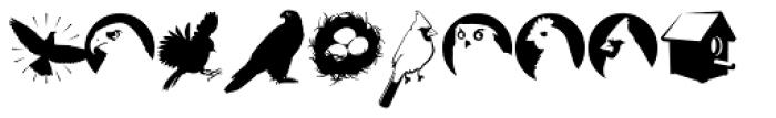 Altemus Birds Font UPPERCASE