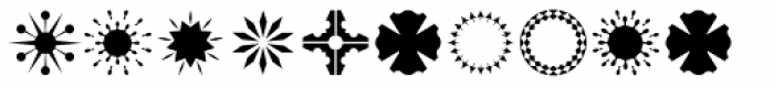 Altemus Bursts Three Font UPPERCASE