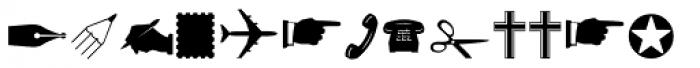 Altemus Dingbats Font UPPERCASE
