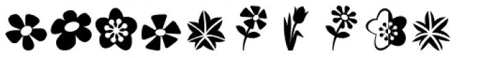 Altemus Flowers Font LOWERCASE