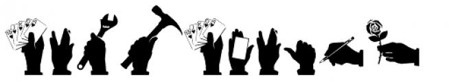 Altemus Hands Font LOWERCASE