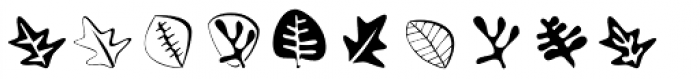 Altemus Leaves Two Font OTHER CHARS