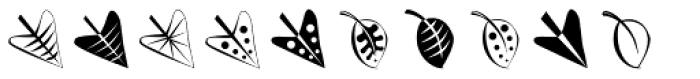 Altemus Leaves Font LOWERCASE