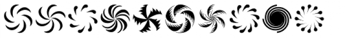 Altemus Pinwheels Two Font UPPERCASE