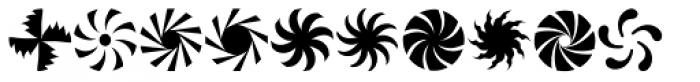 Altemus Pinwheels Font LOWERCASE