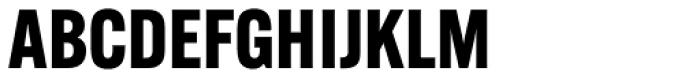 Alternate Gothic ATF Bold Font UPPERCASE