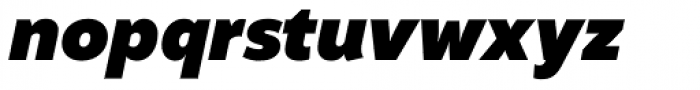 Altivo Black Italic Font LOWERCASE