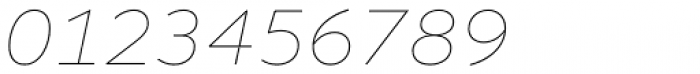 Altivo Thin Italic Font OTHER CHARS