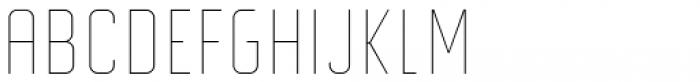 Altum Sans Thin Font UPPERCASE