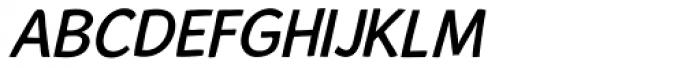 Alum Oblique Font UPPERCASE