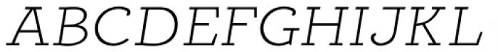 Alumina 34 XLight Ex Italic Font UPPERCASE