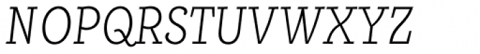 Alumina 38 XLight Condensed Italic Font UPPERCASE