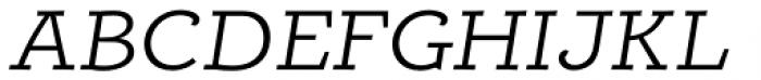 Alumina 44 Light Ex Italic Font UPPERCASE