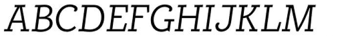 Alumina 46 Light Italic Font UPPERCASE
