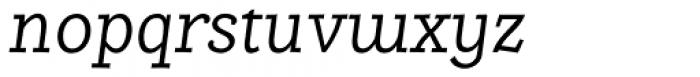 Alumina 46 Light Italic Font LOWERCASE