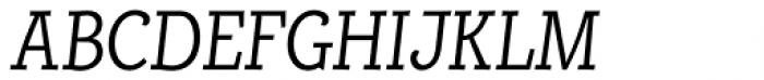Alumina 48 Light Condensed Italic Font UPPERCASE