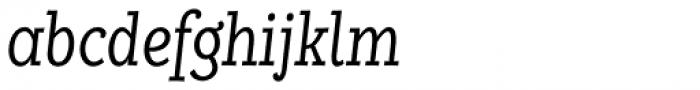 Alumina 48 Light Condensed Italic Font LOWERCASE