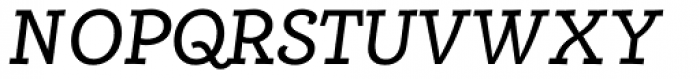 Alumina 56 Roman Italic Font UPPERCASE