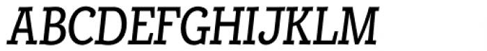 Alumina 58 Roman Condensed Italic Font UPPERCASE