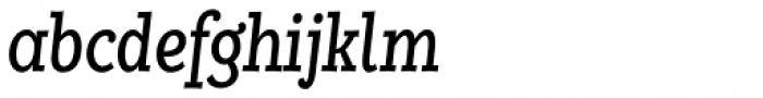 Alumina 58 Roman Condensed Italic Font LOWERCASE