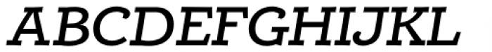 Alumina 64 Medium Ex Italic Font UPPERCASE