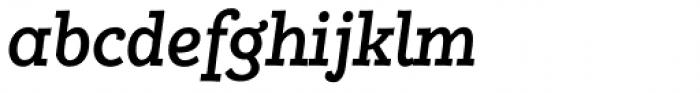 Alumina 66 Medium Italic Font LOWERCASE
