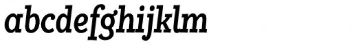 Alumina 68 Medium Condensed Italic Font LOWERCASE