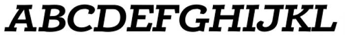 Alumina 74 Bold Ex Italic Font UPPERCASE