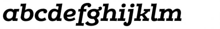 Alumina 74 Bold Ex Italic Font LOWERCASE