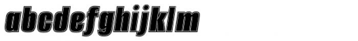 Alumni Sans Collegiate Italic Font LOWERCASE