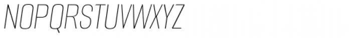Alumni Sans Hairline Italic Font UPPERCASE