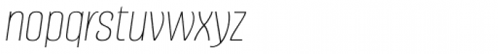 Alumni Sans Hairline Italic Font LOWERCASE
