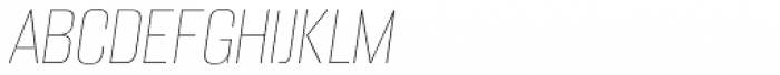 Alumni Sans Pinstripe Italic Font UPPERCASE