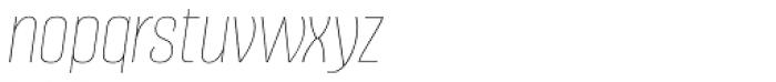 Alumni Sans Pinstripe Italic Font LOWERCASE