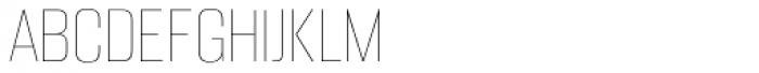 Alumni Sans Pinstripe Font UPPERCASE