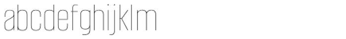 Alumni Sans Pinstripe Font LOWERCASE