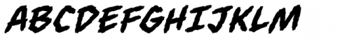 Always Angry BB Italic Font UPPERCASE