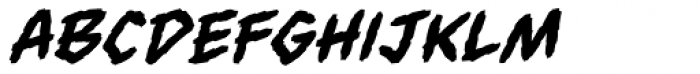 Always Angry BB Italic Font LOWERCASE
