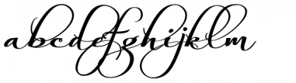 Always Black Font LOWERCASE