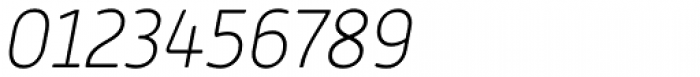 Alwyn New Rounded Thin Italic Font OTHER CHARS