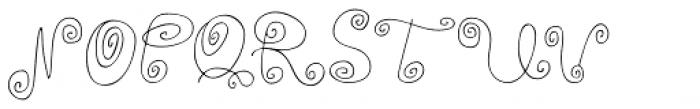 Alya Hand Thin Font UPPERCASE