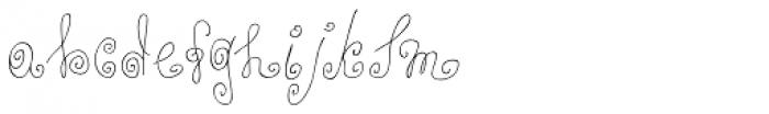 Alya Hand Thin Font LOWERCASE