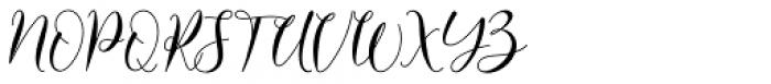 Alyanda Regular Font UPPERCASE