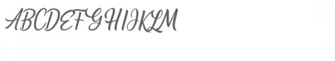 Alishader Font UPPERCASE