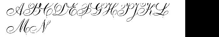Ambassador Script Pro Font UPPERCASE