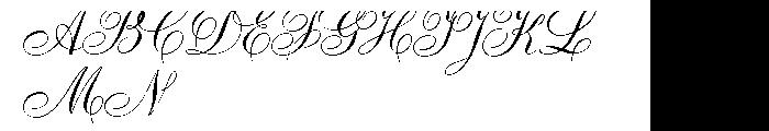 Ambassador Script Font UPPERCASE