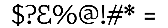 Amstelvar Font OTHER CHARS