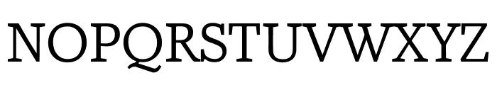 Amstelvar Font UPPERCASE