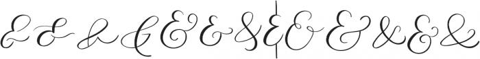 AMPERSAND otf (400) Font UPPERCASE