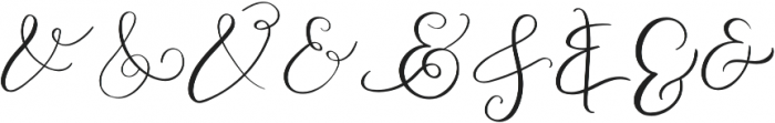 AMPERSAND otf (400) Font LOWERCASE
